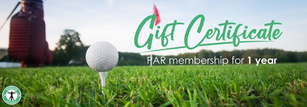 gift certificat wisdoming golf
